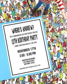 Where's Waldo Birthday Party Ideas Wo Ist Walter, Wheres Wally, November 17, Spy, First Birthdays, Birthday Parties, Photo Galleries, Party Ideas, Frame