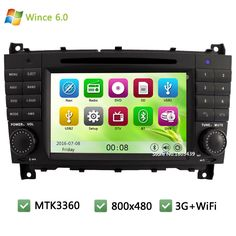 MTK MT3360 Wince 6.0 Car DVD Player Radio Audio Stereo Screen GPS PC Support 3G WIFI For Benz C CLS CLC CLK Class W203 W209 W219