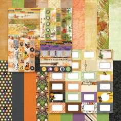 Fall Flourish Bundle - Capture your fall traditions, including Halloween and Thanksgiving, using the designs and colors in the Fall Flourish by Katie Pertiet collection. Combine journaling cards, border strips, and designer cardstock to create a one-of-a-kind album.