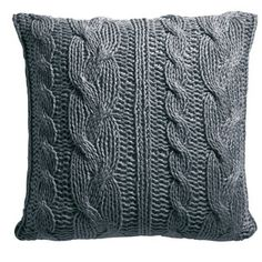 Coussin tricot 100% acrylique 60x60cm WOOL