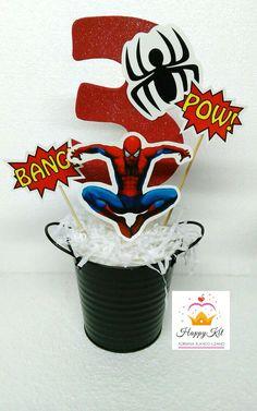 Spiderman. Centro de mesa. HappyKit