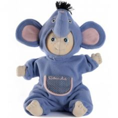 Designed in Sweden, this charming doll is looking for a special someone to love. With a soft fleece construction and sparkly embroidered eyes, this handmade happiness is ready to be an enchanting friend for a special little darling. Little Darlings, Ark, Kids Learning, Gifts For Kids, Smurfs, Doll Clothes, Flora, The Past, Elephant