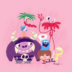 Matt Kaufenberg's Illustration of Foster's Home for Imaginary Friends