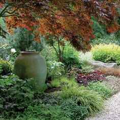 Warm bed in the shade - Garden Border Ideas - Sunset
