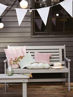 Cox and Cox Garden Furniture - Provence Garden Bench NEW Outdoor Seating, Outdoor Dining, Outdoor Spaces, Outdoor Decor, Garden Furniture, Outdoor Furniture, Diy Furniture, Provence Garden, Bleu Pastel