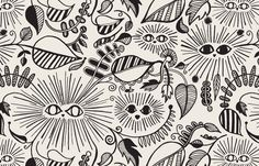 Jungle Eyes pattern for TREAT & CO's print and pattern collection by Meenal Patel