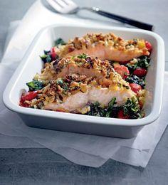 Dit gerecht is ideaal! Leg alles in de schaal, zet hem in de oven en je kunt lekker buiten op je eten wachten. Eet smakelijk!