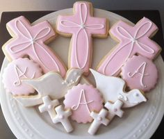 Decorated Personalized Baptism / Christening Cookies- Great Gift or Favors