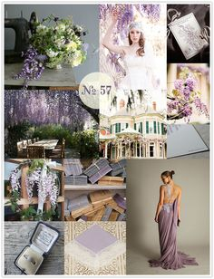 Mood Board #57: Wishful Wisteria | Limn & Lovely | Daily Wedding Inspiration