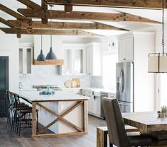 Amazing Urban Farmhouse Kitchen By Rafterhouse. Barnwood Accents, Toned Cabinets  And Hints Of Steel Make