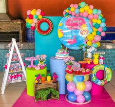 Birthday Party Decorations, Birthday Parties, Tropical, Mini Mouse, Princesas Disney, Flamingo, Peppa Pig, Alice, Barbie