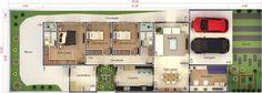 Plano de casa de condominio10x30