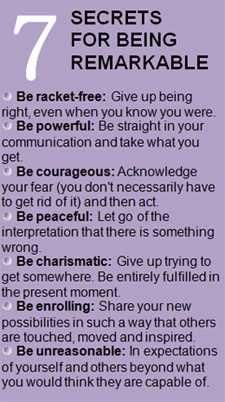 How to be remarkable!