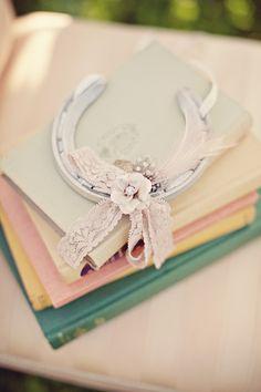 Romantic lucky wedding horseshoe