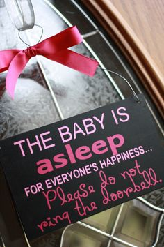 Considering our door bell sounds like a fire alarm, im totally going to need to make myself one of these. Baby Shower Parties, Baby Shower Gifts, Baby Gifts, My Little Girl, Little Ones, Everything Baby, Baby Fever, Future Baby, Parenting Hacks