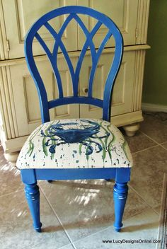 blue crab chair is my NEXT project for sure!