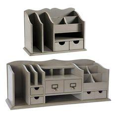 "Original Home Office™ Desk Organizers Dimensions: Large: 12""H X 30""W X 10""D Medium: 10 1/2""H X 15""W X 8""D"