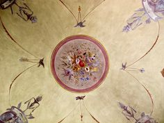 bathroom ceiling, Villa Pozzolo