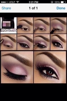 purple & brown Eye Makeup