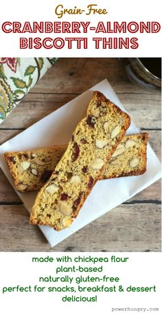 Like almondina cookies, these biscotti thins are easy-to-make, vegan, grain-free, gluten-free, and packed with superfood ingredients! #cleaneats #fitnessfoods #cleaneating #chickpeaflour #grainfreesnacks #grainfreecookies #grainfreesnacks