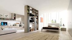 open kitchen bedroom - Google Search