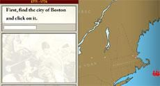 American War for Independence: Interactive Map