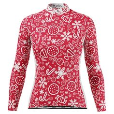 Women's Christmas Candy Long Sleeve Cycling Jersey – Online Cycling Gear – Free Shipping – Lowest Prices! Women's Cycling Jersey, Cycling Gear, Cycling Jerseys, Cycling Outfit, Christmas Candy, Female Cyclist, Body Shapes, Female Bodies, Long Sleeve