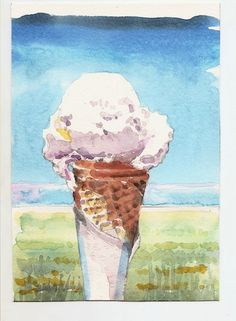 Ice cream in summer, by Graham Wright