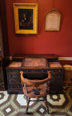 Charles Dickens' London study where he did most of his writing - I touched that desk!