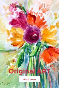 Shop Original Art online at lauratrevey.com Beautiful Houses Interior, Beautiful Homes, Wrap Clothing, Watercolor Design, Art Online, Home Decor Accessories, House Colors, Original Art, Diy Projects