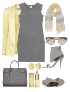 Untitled #249 by magali82 on Polyvore featuring polyvore fashion style Monki Preen Kallisté Yves Saint Laurent Humble Chic Linda Farrow AERIN clothing