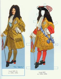 Louis XIV and his Court (Tom Tierney) - edprint2000paperdolls - Picasa Albums Web