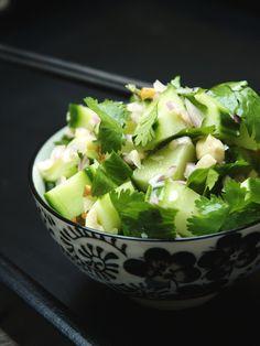 Salade aigre douce aux concombres (Thaïlande)