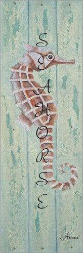 Poster / Leinwandbild Seahorse for you - ANOWI