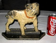 X RARE Antique Lacs English Bulldog Cast Iron Dog Art Statue Garden Doorstop | eBay