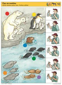 what food for each animal? Preschool Zoo Theme, Preschool Printables, Preschool Worksheets, Fun Math, Preschool Activities, Early Education, Childhood Education, Kids Education, Penguins