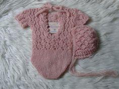 Newborn Overalls.Baby Girls Overalls.Newborn от knitsdwarfs