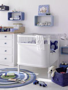 Lovely Babyzimmer in Blau Wei