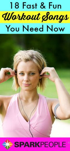 18 Upbeat Songs to Pump Up Your Workouts | via @SparkPeople #spring #fitness #exercise #healthy #music #running #workoutplaylist