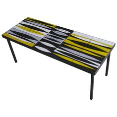 """""""Navettes"""" in Yellow Low Table by Roger Capron - Vallauris, France, circa 1950's"""