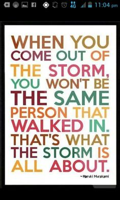 This storm sucks.but I believe in the words x Cute Quotes, Great Quotes, Quotes To Live By, Funny Quotes, Haruki Murakami, Quotable Quotes, Motivational Quotes, Inspirational Quotes, Qoutes