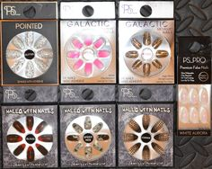 Fashion False Nails Primark Make Up Pointed Halloween Glass Ombre Glitter Silver