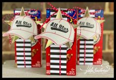 Pink Party Favors, Cracker Jacks, Star Images, Treat Holder, Candy Wrappers, Specialty Paper, Happy Memorial Day, Paper Pumpkin, Design Tutorials