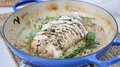 Pan roasted to perfection, this whole turkey breast is made with Riesling, apples, pancetta and cream. Marilyn Denis Show Recipes, Whole Turkey, Cooking Recipes, Healthy Recipes, Savoury Recipes, Chicken And Shrimp, Christmas Dishes, Soup And Sandwich, Roasting Pan