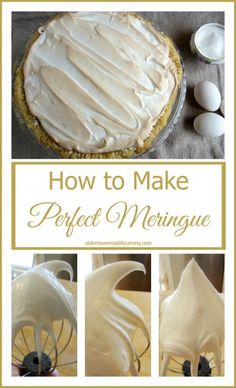 Merangue Recipe How to Make the Perfect Meringue – Recipe, Tips and Tricks - Merangue Recipe Find out how to Make the Good Meringue – Recipe, Ideas and Tips I've topped pies with meringue for so long as. Just Desserts, Delicious Desserts, Dessert Recipes, Pie Recipes, Sausage Recipes, Cupcake Recipes, Yummy Recipes, Cookie Recipes, Chicken Recipes