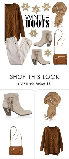 """""""Winter Boots"""" by lgb321 ❤ liked on Polyvore featuring Sam Edelman, New Directions and J.Crew"""