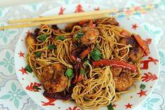 For Fried Noodles Shrimp - Poissons - Asian Recipes Asian Recipes, New Recipes, Cooking Recipes, Ethnic Recipes, Fried Noodles Recipe, Sauteed Shrimp, Chinese Food, Good Food, Food Porn