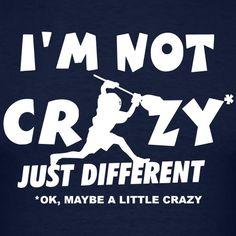 I'm Not Crazy, Lacrosse Goalie T-Shirts - Men's Muscle T-Shirt