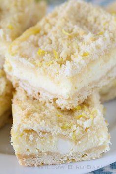 Lemon Shortbread Crumble Bars - The ULTIMATE lemon lover's dessert!