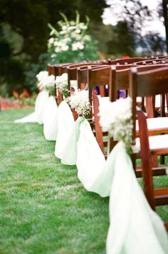 Love the chairs and decorations for an outside wedding
